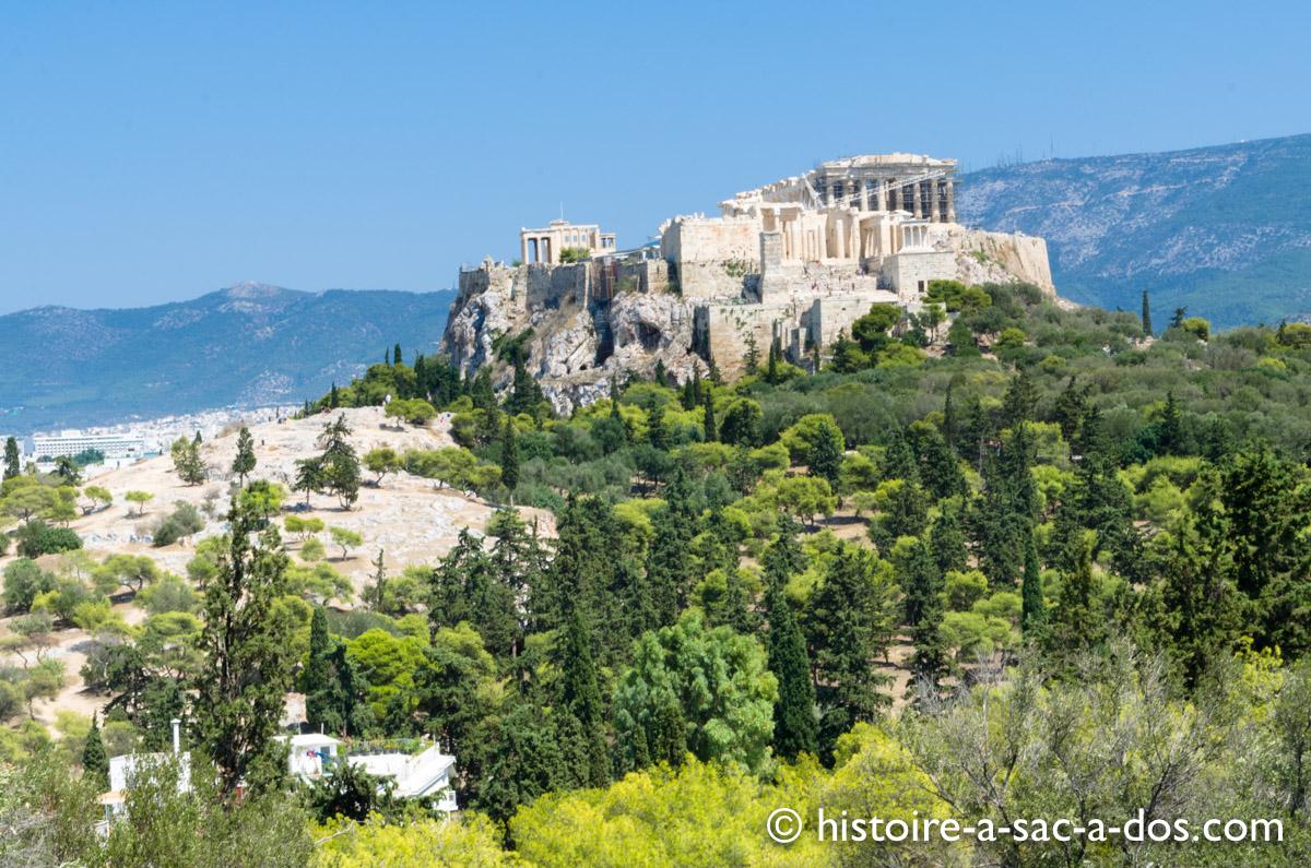 L'acropole depuis la colline de la Pnyx - Athènes - Grèce