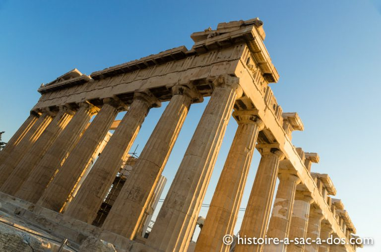 Le Parthénon dédié à la déesse Athéna. Athènes, Grèce