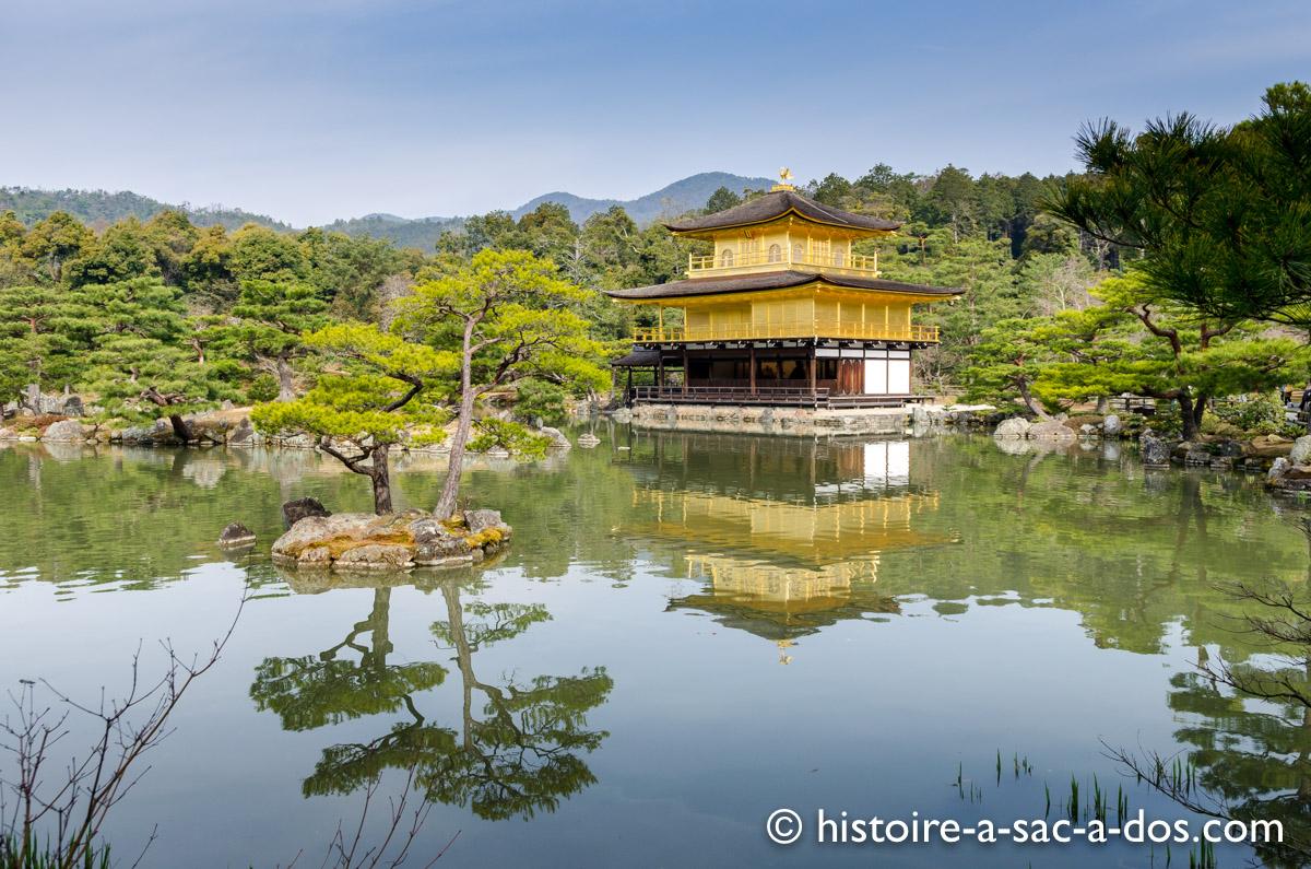 Temple du Pavillon d'or, Tokyo. Construit au XIVème siècle, il fut un temple bouddhiste puis zen.