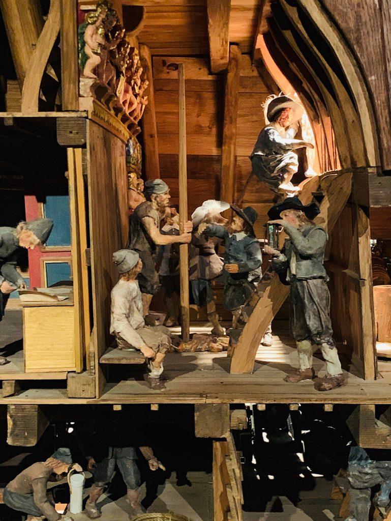 Maquette du Vasa et reconstitution de la vie à bord du Vasa