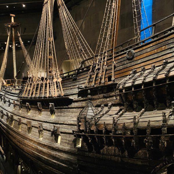 Epave du Vasa exposée au musée Vasa de Stockholm, Suède