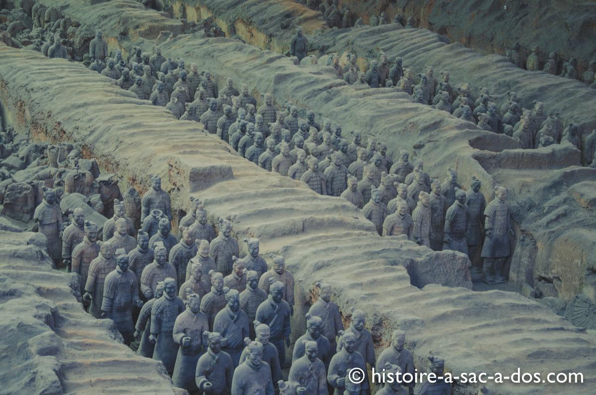 Guerriers en terre cuite du tombeau de Qin Shi Huangdi, Xian dans le Nord de la Chine