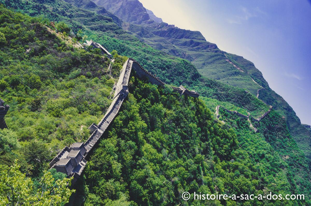 Muraille de Chine. Section Mutianyu construite sous les Ming au XVè et XVIè siècle