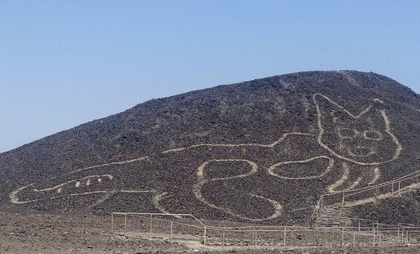 Géoglyphe en forme de félin, civilisation de Paracas