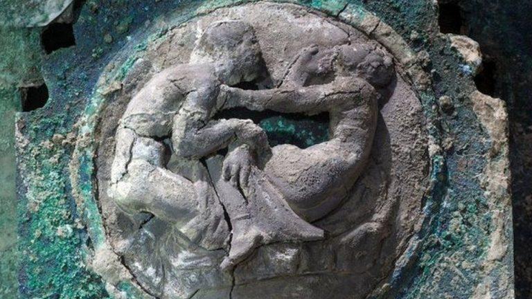 Elément décoratif d'un char découvert à Pompéi
